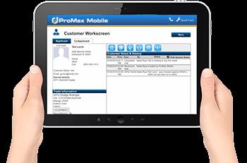 ProMax Mobile workscreen