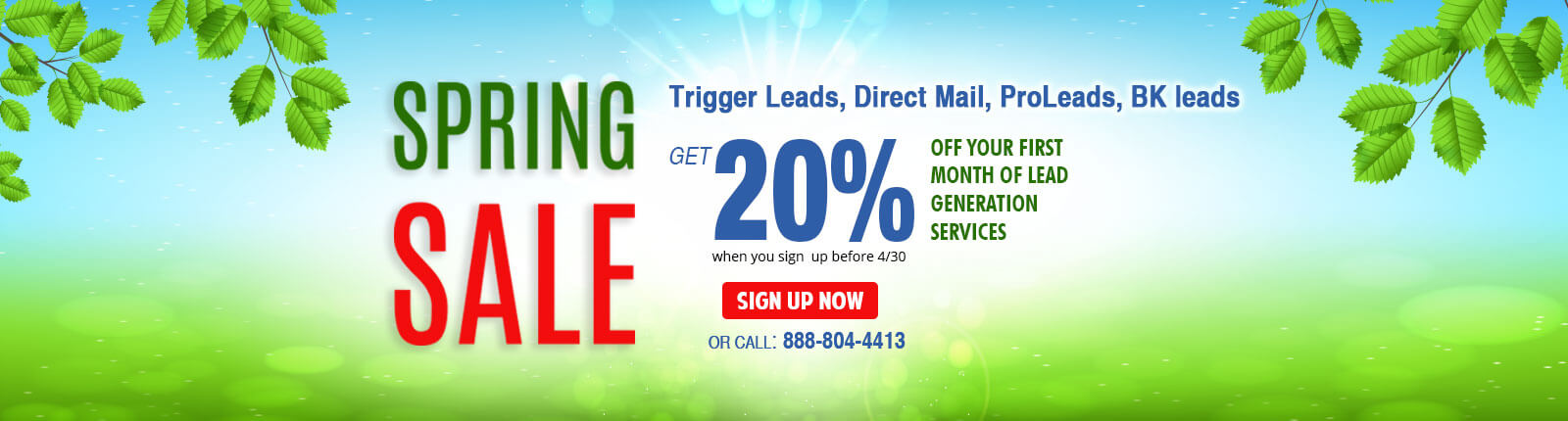 Lead generation product sale