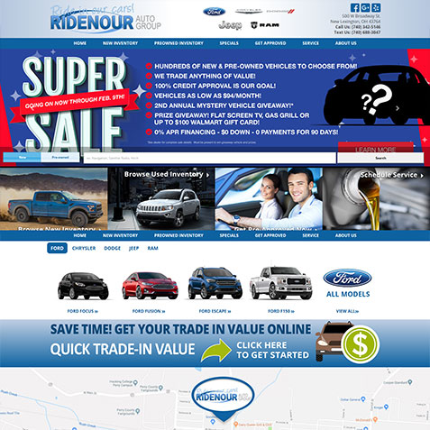 Ridenour Auto Group >> Design Gallery for Car Dealership Websites | PromaxUnlimited.com