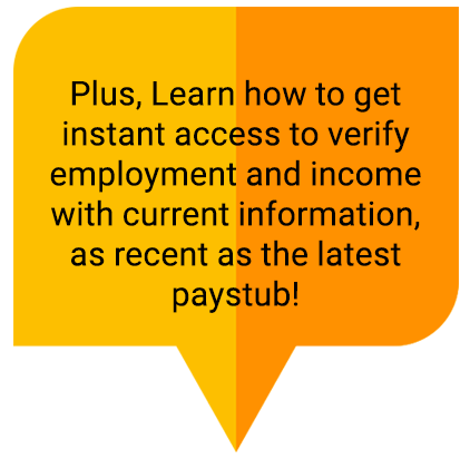 Employment and Income verification