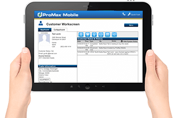 ProMax Mobile workscreen