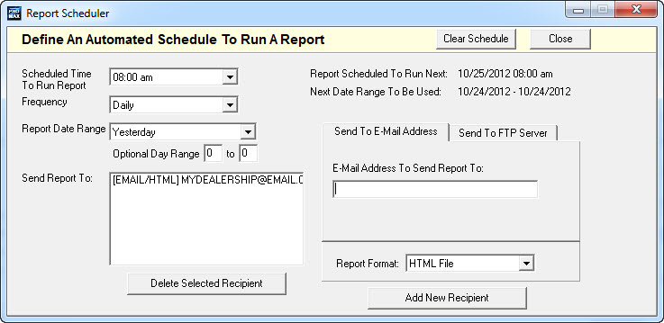report scheduler