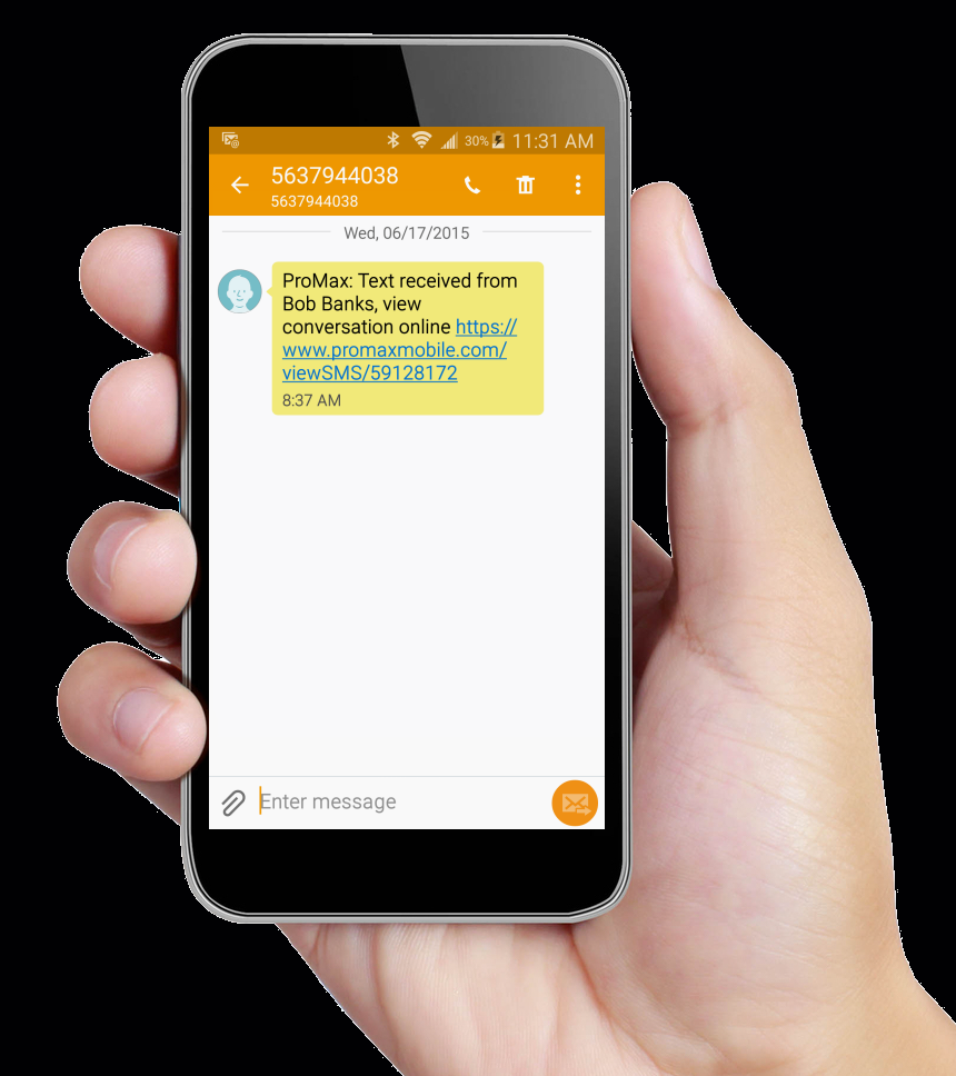 ProMax Unlimited has texting built into it's CRM.